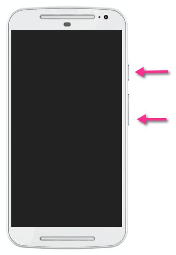 Moto G 2 Screenshot-Tasten