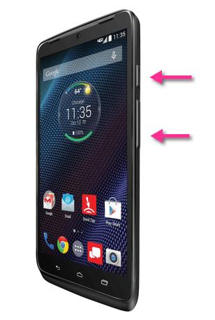 Motorola Droid Turbo Screenshot Tasten