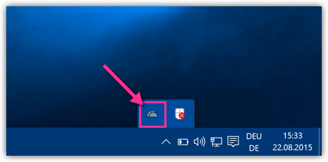 OneDrive Symbol Windows 10