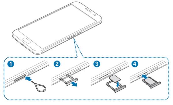 SIM-Karte bei Samsung Galaxy S6 einsetzen