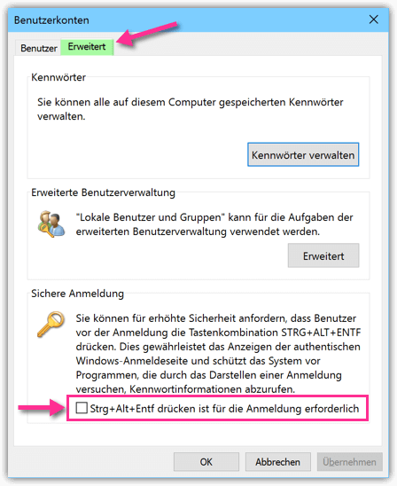 umschalttaste windows 10 verstellt