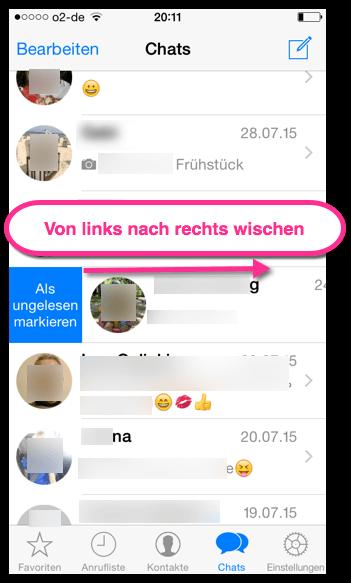 WhatsApp iPhone als ungelesen markieren 2