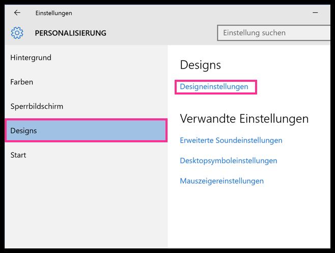 Windows Diashow Einstellungen
