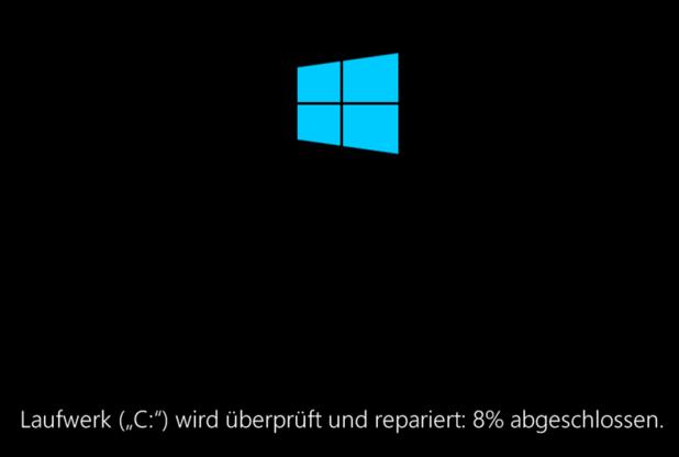 Windows 10 Laufwerk wird überprüft