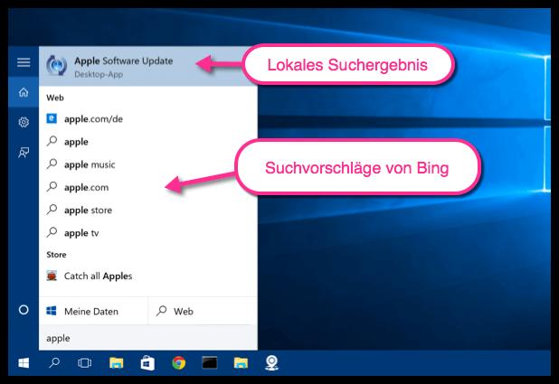 Windows 10 Suche Lokal