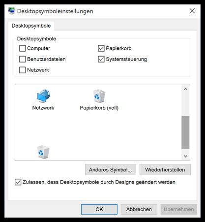 Windows 10 Systemsteuerung als Desktopverknüpfung