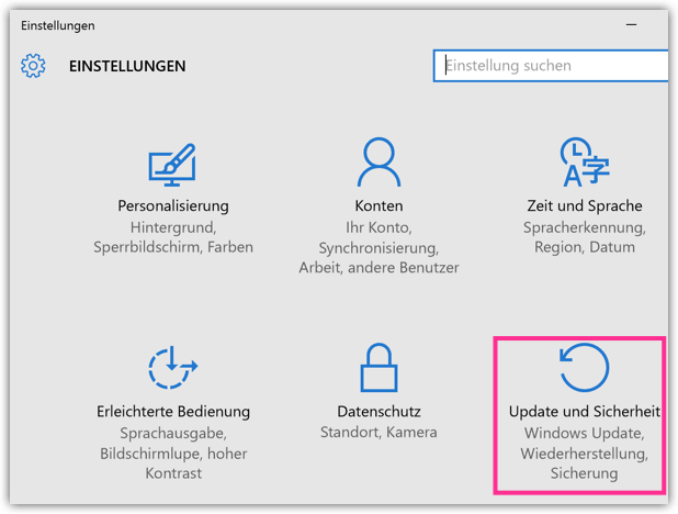 Windows 10 Update und Sicherheit