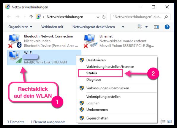 Win10 Wlan Passwort Anzeigen