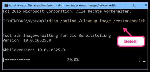 dism :online :cleanup-image :restorehealth Windows 10