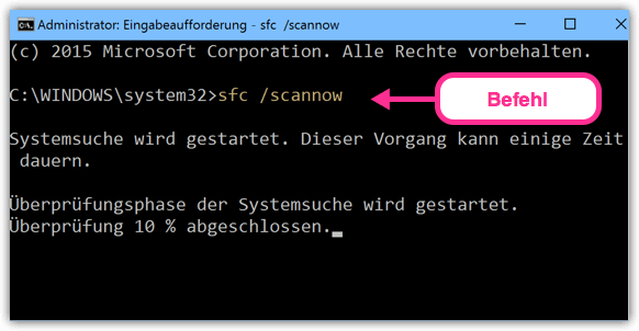 sfc :scannow Windows 10