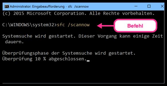 sfc :scannow Windows 10