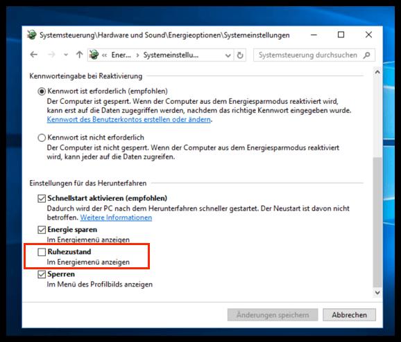Windows 10 Ruhezustand Aktivieren Oder Deaktivieren