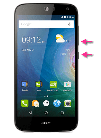 Acer Liquid Z630S Screenshots Buttons
