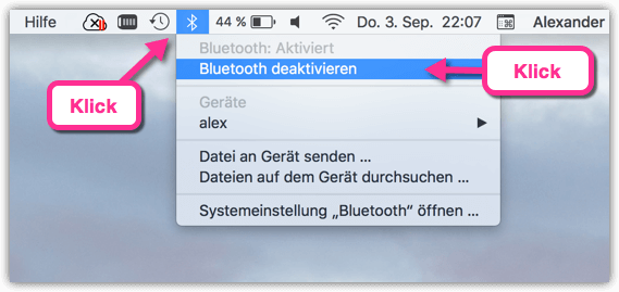 MacBook BlueTooth deaktivieren