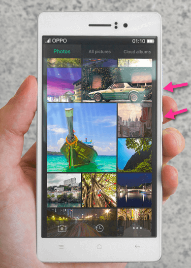 OPPO R5 Screenshot Buttons