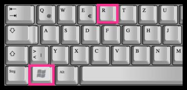 Tastenkombination Shortcut Windows-Taste R