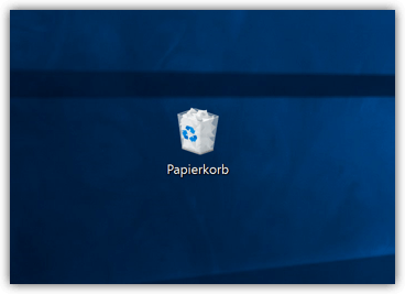 Windows 10 Papierkorb-