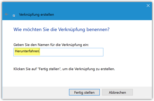 Windows 10 Verknüpfung umbenennen