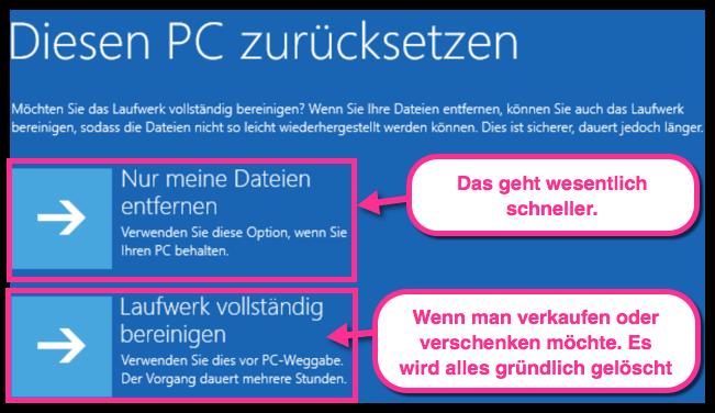 Windows 10 diesen PC zuruecksetzen-2