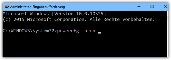 Windows 10 powercfg -h on