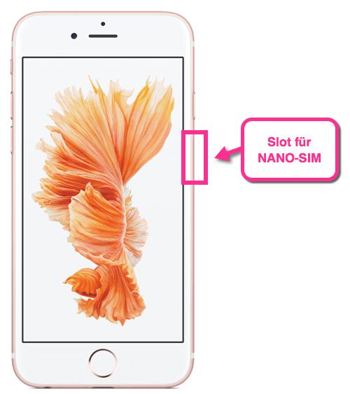 iPhone 6s Slot NANO-SIM
