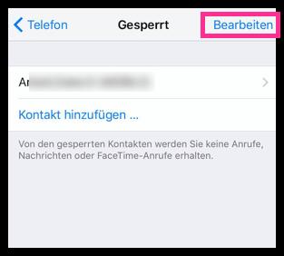 iPhone Kontakt bearbeiten