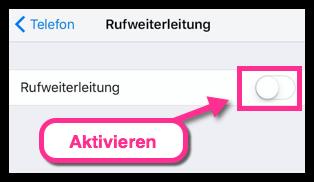 iPhone Rufweiterleitung aktivieren