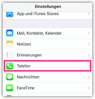 iPhone Telefon Einstellungen
