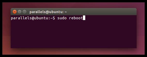 ubuntu sudo reboot