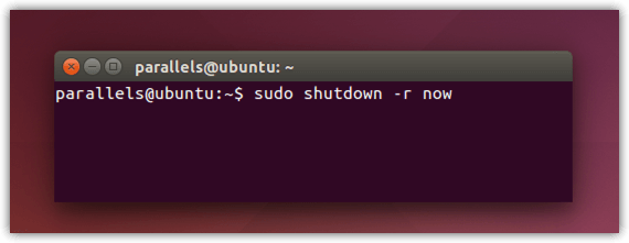 ubuntu sudo shutdown -r now