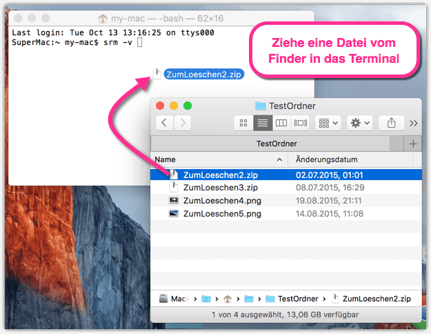 Mac Dateien und Ordner sicher loeschen
