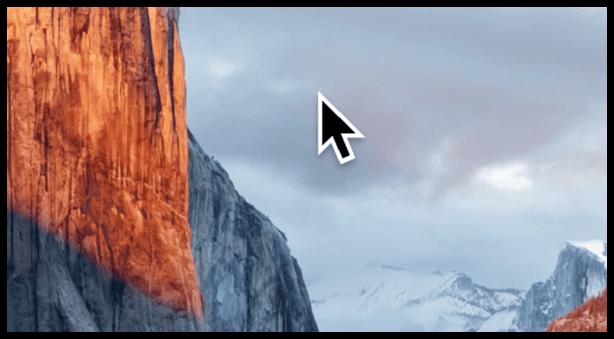 OS X Riesen Cursor