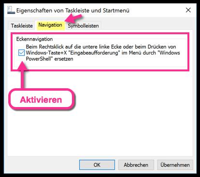 Windows 10 PowerShell aktivieren
