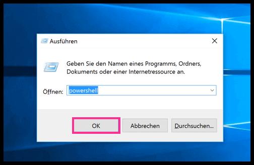 Windows 10 PowerShell ohne Admin-Rechte öffnen