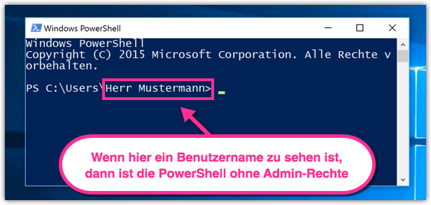 Windows 10 PowerShell ohne Admin-Rechte