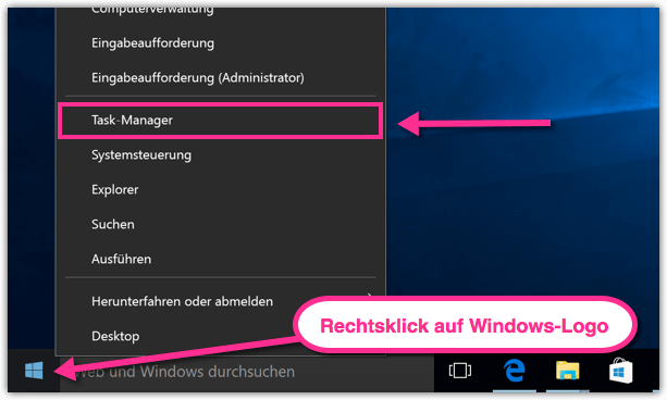 schwarze fenster windows 10