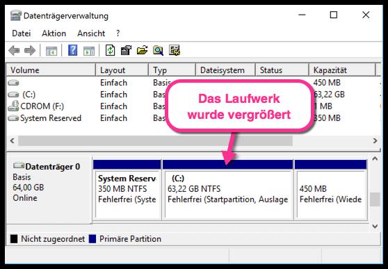 Windows-10-das-Laufwerk-wurde-vergroessert