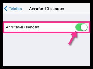 iPhone Anrufer ID deaktivieren Inkognito telefonieren