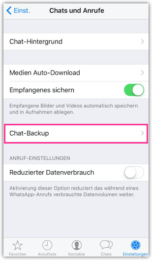 iPhone Chat-Backup