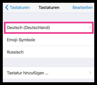iPhone Deutsche Tastatur Einstellungen