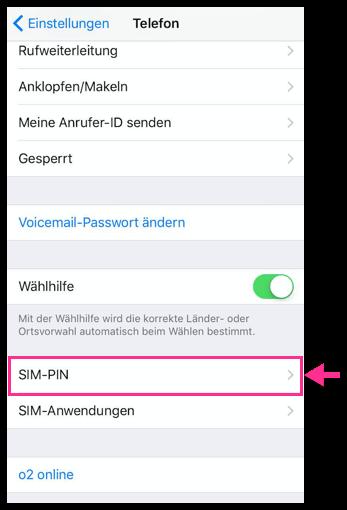 iPhone SIM-PIN