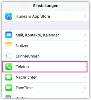 iPhone Telefon-Einstellungen