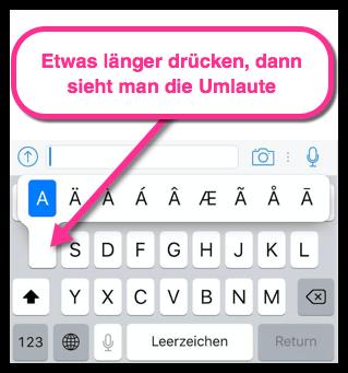 iPhone Umlaute anzeigen