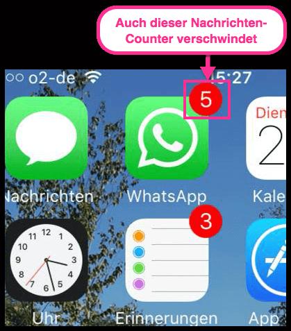 iPhone WhatsApp Anzahl der Nachrichten