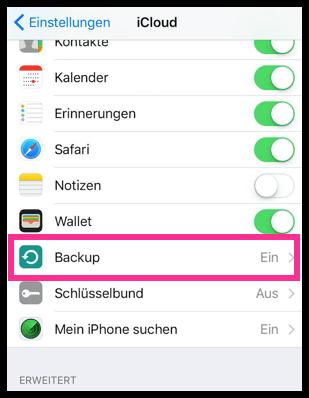 iPhone iPad iCloud Backup
