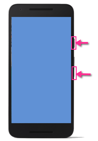 Google Nexus 5X Screenshot-Tasten