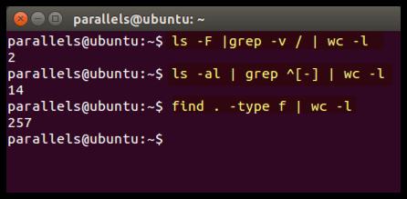Ubuntu Dateien Zählen