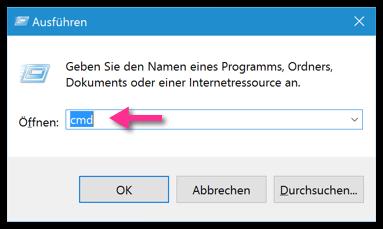Windows 10 CMD-Befehl