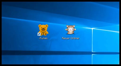Windows 10 Ordner und Programm mit neuen Icons