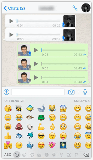 iPhone WhatsApp Smileys Emoji Emoticons